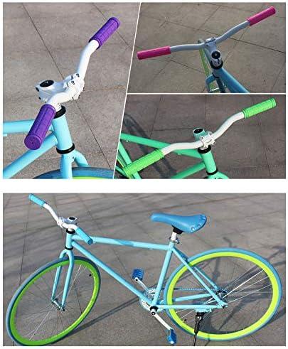 a Forma di Fungo per BMX//MTB//Ragazzi e Ragazze in Gomma Colorata Manopole per Manubrio della Bicicletta 2 Paia PLATT