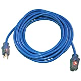 ProStyle 50ft. #12 SJTW 3 Conductor Extension Cord With Lighted Ends - Blue