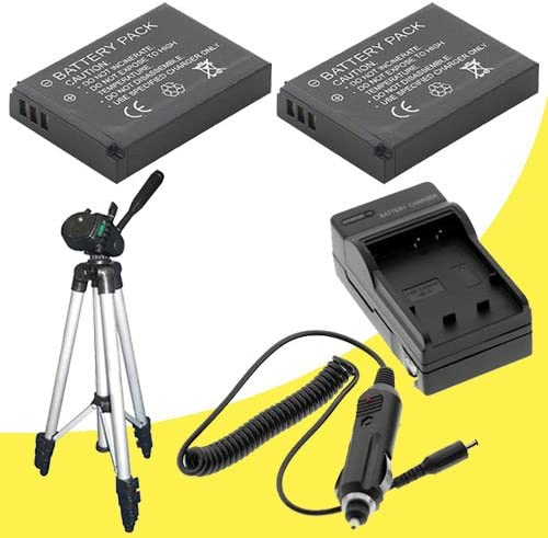 External Rapid Charger TWO EN-EL9 Lithium Ion Replacement Battery Full Size Tripod for Nikon D3000 D5000 D40 D40x D60 D3x Digital SLR Cameras with use of the Nikon 18-55mm f//3.5-5.6G AF-S DX VR Nikkor Zoom Lens DavisMAX Bundle