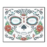 Connoworld Skull Face Halloween Zombie Waterproof Temporary Makeup Art Fake Tattoo Sticker T-010