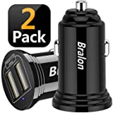 USB Car Charger,Bralon 2-Pack 24W/4.8A Mini 2 USB Fast Car Charger Adapter Compatible with iPhone 11 11 Pro(Max) Xs Max X 8 7