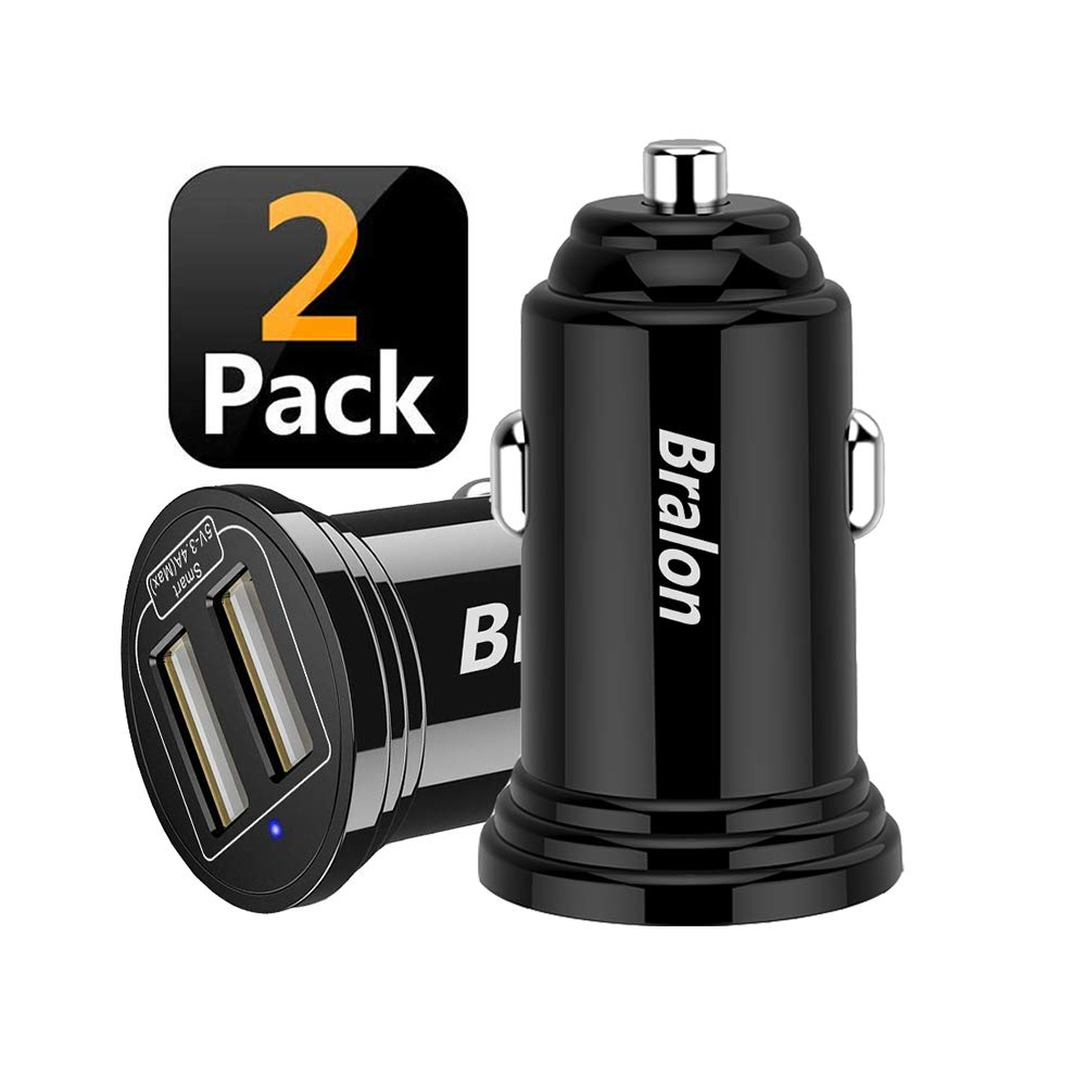 Amazon.com: USB Car Charger[2-Pack], Bralon 18W 3.4A Mini 2 ...