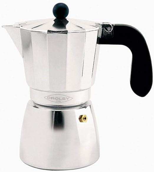 Oroley - Cafetera Italiana Alu | Aluminio | 12 Tazas | Cafetera Vitrocerámica, Fuego y Gas | Estilo Tradicional: Amazon.es: Hogar