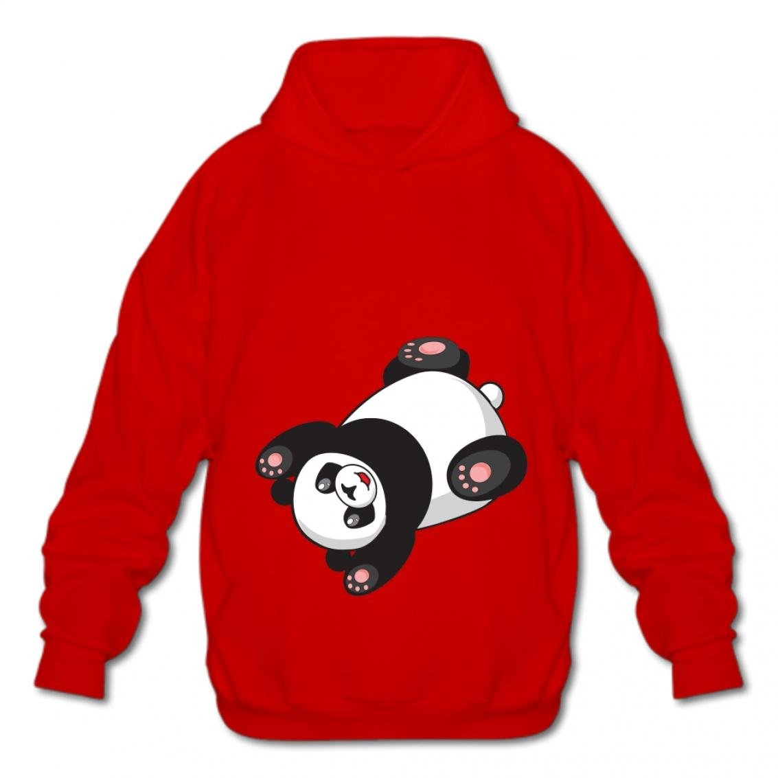 Gnshuiquji Mens Cotton Pullover Fashion Sweatshirts Fashion Hoodies-03 Cartoon Panda Nnel Hooded
