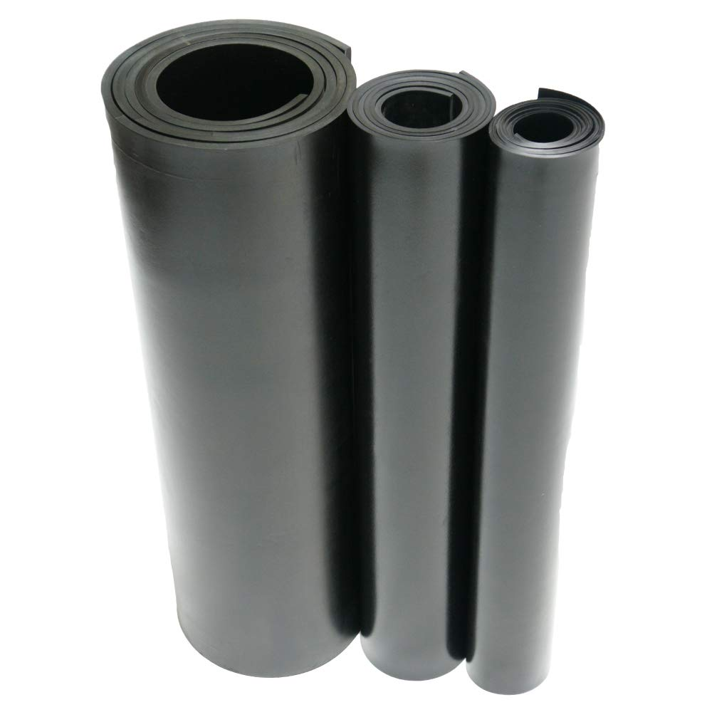 36 Length 0.375 Thick Adhesive-Backed Black ASTM D2000 BA 6 Width 60A Durometer EPDM Sheet