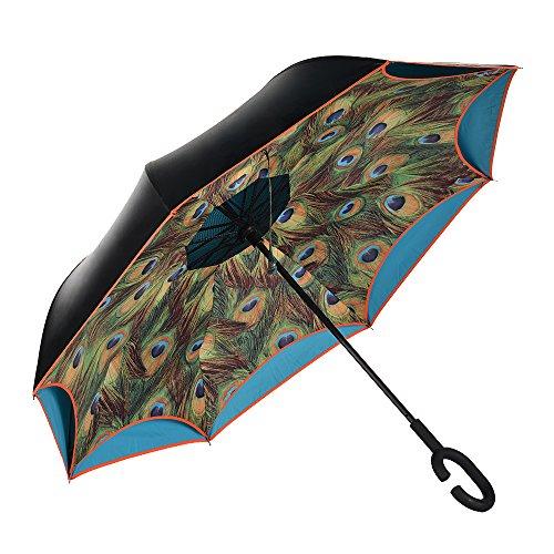 reverse umbrella opposite folding Peacock