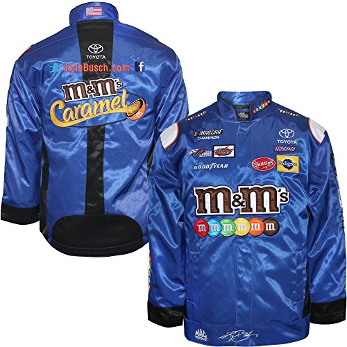 Kyle Busch Cotton - SMI Properties Kyle Busch 2018 M&M's Caramel Uniform NASCAR Pit Jacket (XLarge)