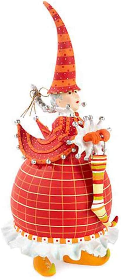 "Patience Brewster Dash Away Red 10.5"" Tall Mrs.Santa Figure"