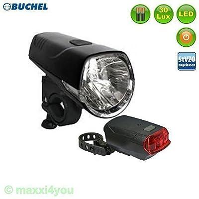 01010320Büchel Sydney Set éclairage vélo 30LUX avec support LED