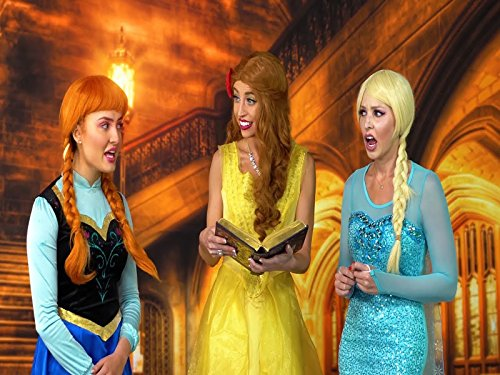 Frozen Elsa And Anna Search For Their Parents. Belle Finds Out The True -