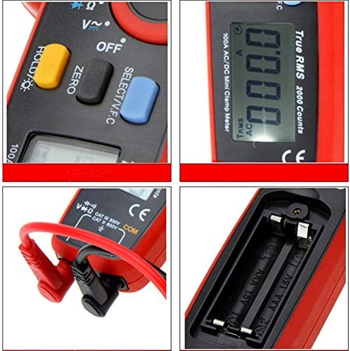 UT 210E Digital Clamp Meter Effective Value Ammeter AC DC 100A Current and Voltage Multimeter Tester for Factory and Other Social Fields