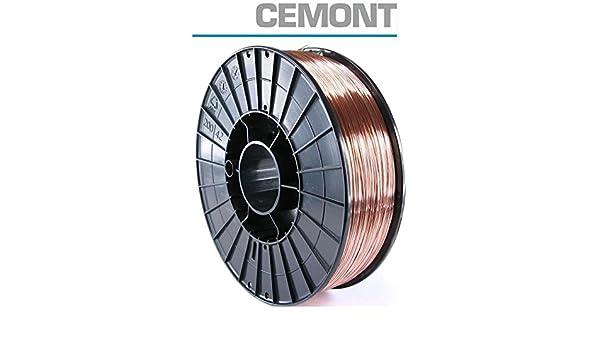 CEMONT – Bobina Hilo cobre diámetro 0,8 mm de kg 5 Soldadura a gas ...