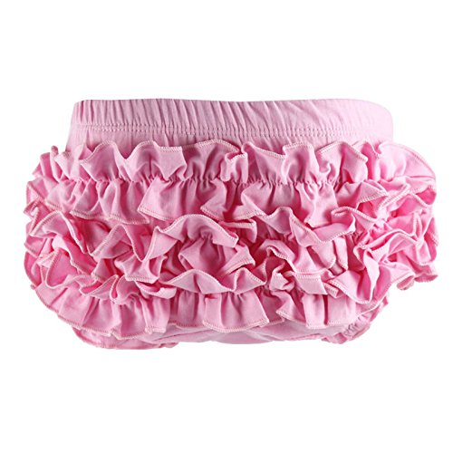 Wennikids Baby Girl's Cotton Shorts and Diaper Cover Bloomers Small Pink