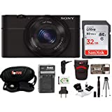 Sony Cyber-shot DSC-RX100 Digital Camera w/ Battery & 32GB SD Card Bundle
