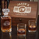 Marquee Personalized Whiskey Gift Set with Carson Decanter and Eastham Glasses (Customizable Product)
