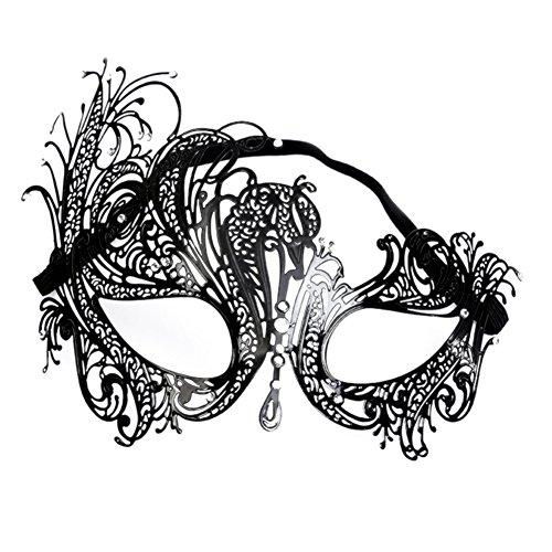 Bingirl Women Elegant Chic Metal Mask for Halloween Cospaly Party Fancy Dress ()