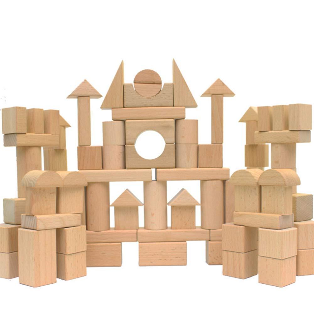 entrega de rayos Building Building Building Blocks Madera 140 Tabletas Bloques de construcción de Madera de Color en Caja 0-2-3 años de Edad, niños Rompecabezas Juguetes educativos de Primera Infancia  edición limitada