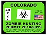 Colorado Zombie Hunting Permit (Bumper Sticker)