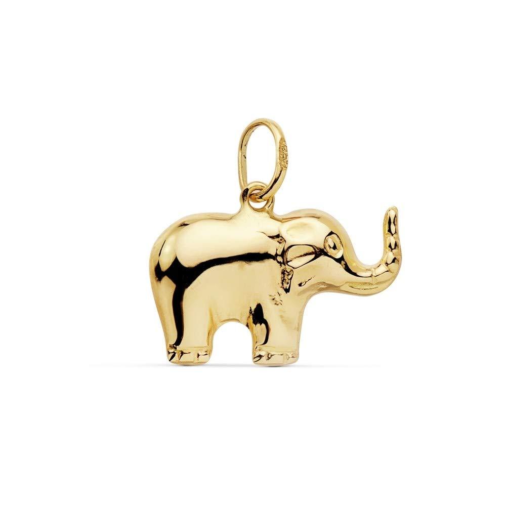 18k Gold Elefant Anhä nger 16mm. smooth [AC0103] JPM