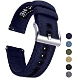 Ritche Canvas Quick Release Watch Band 18mm 20mm 22mm Replacement Watch Straps for Men Women (Navy Blue, 20mm)