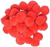 Darice 10177-30 Pom-Poms, 1-Inch, Red, 40-Pack