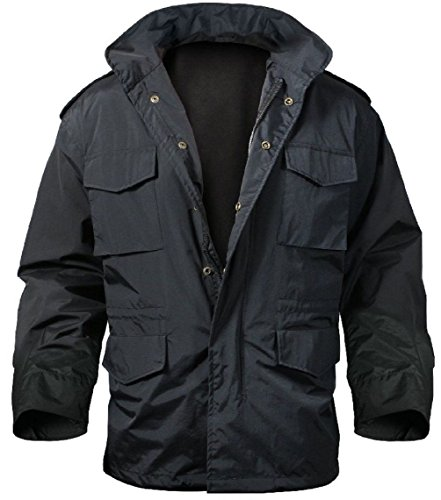 (Outdoor Base New Black Military Nylon Tactical M-65 Storm Field Jacket)