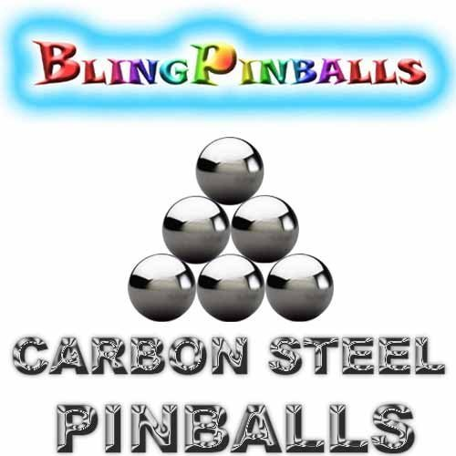 6 carbon steel premium Bling mirror finish pinballs (Pack...