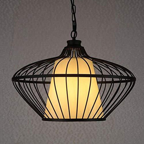 ChuanHan Birdcage Suspension Lampe Personnalité Créative de Fer Cage à Oiseaux Lustre Suspendu Lumière Salle à Manger Tea Bar Clubhouse