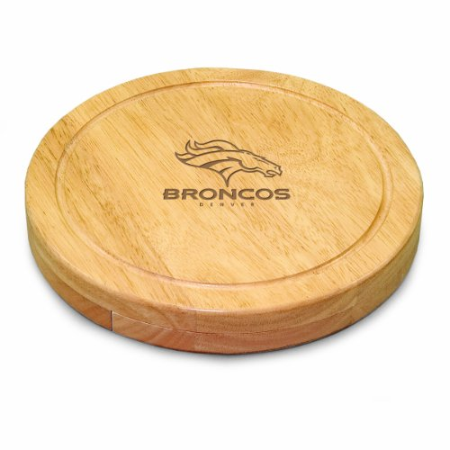 NFL Denver Broncos Circo Cheese Board/Tool Set, (Denver Broncos Cutter)