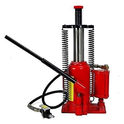 Hydraulic Bottle Jack Low Profile Heavy Duty Constraction Steel Axle Jack Hoist Lift 20 Ton Capacity - House Deals