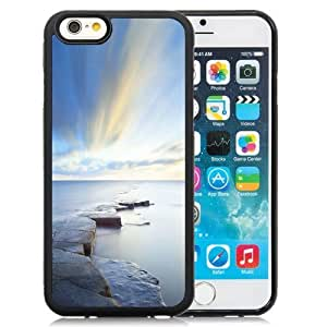 NEW Unique Custom Designed iPhone 6 4.7 Inch TPU Phone Case With Rock Road Wonderful Blue Sky_Black Phone Case