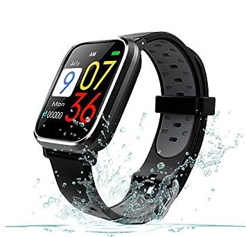 Deofde Smartwatch con GPS, Impermeable Reloj Inteligente Apoyo Pulsómetro, Monitor de sueño, monitoreo