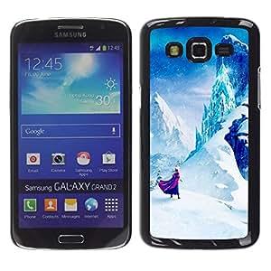 Caucho caso de Shell duro de la cubierta de accesorios de protección BY RAYDREAMMM - Samsung Galaxy Grand 2 SM-G7102 SM-G7105 - Mountain Fairytale Kids Children'S