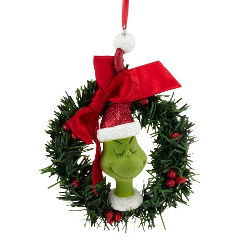 Department 56 Grinch Sisal Wreath Ornament, 4.5-Inch