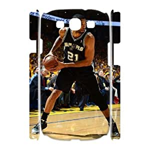 Custom 3D Cover Case for Samsung Galaxy S3 I9300 (Tim Duncan CCW-58623)