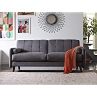 Elle Decor 73 Mid-Century Modern Natalie Sofa in Dark Gray