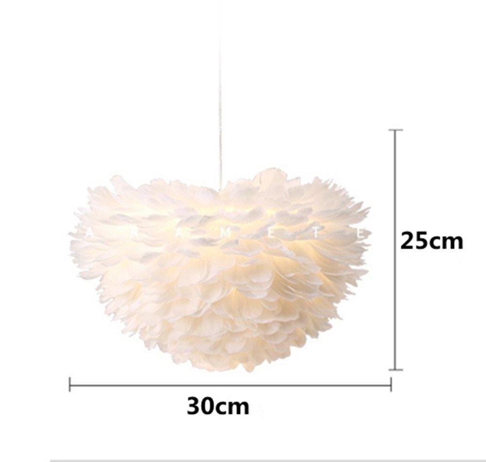 abat jour fille Moderne Pendentif Lumières Led Plume Plafond Boule Lumière E27 Abat Jour  Fille Princesse Chambre Luminaires Suspendus ...