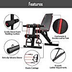 NATARIFITNESS..COM  516SLEwKWVL._SS150_ arteesol Weight Bench – Adjustable Weight Bench Workout Bench Exercise Bench with Elastic Strings for Full Body Training