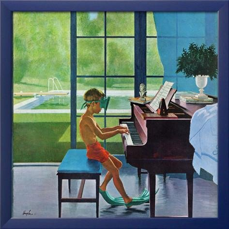 Poolside Piano Practice by George Hughes