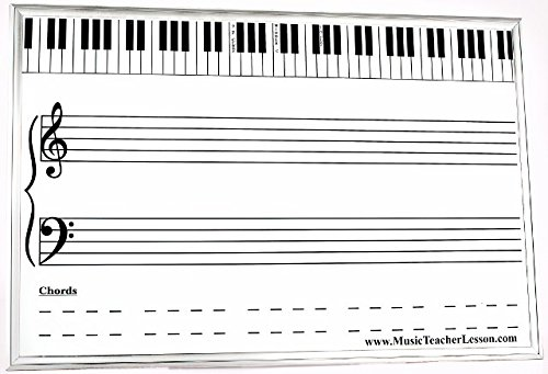 Extra Large Magnetic & Dry Erase Music Teaching Board (3 ...