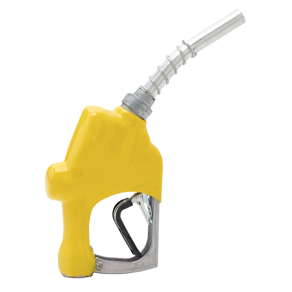 Husky 696104N-05 New 1A Unleaded Nozzle with 3-Notch Hold Open Clip, Full Grip Guard and Metal Hand Guard