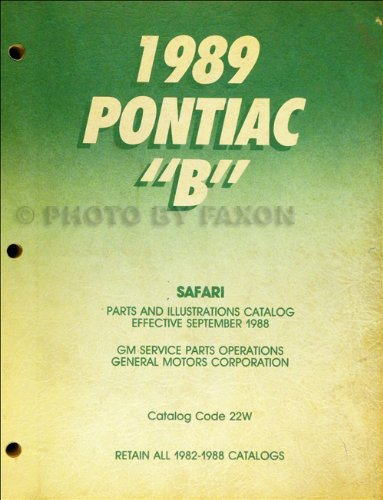 1989 Pontiac Safari Station Wagon Parts Book Original