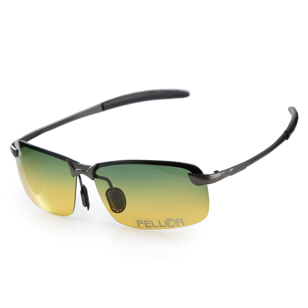Pellor Gafas de Sol de Conducción Visión Nocturna Gafas ...