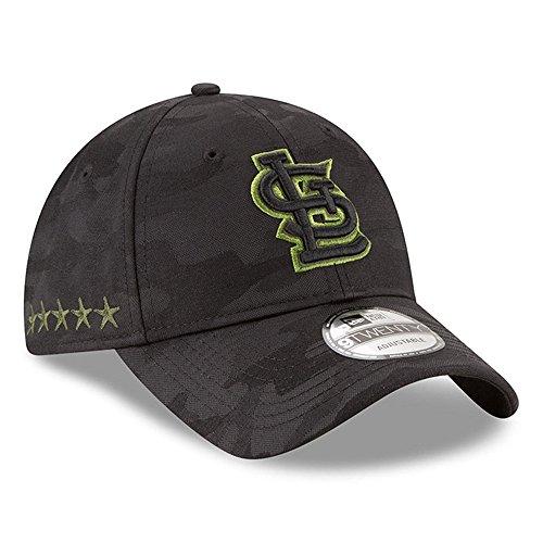 MLB 2018 Memorial Day 9TWENTY Adjustable Dad Hat (Strap) – Black/Black (St. Louis Cardinals)