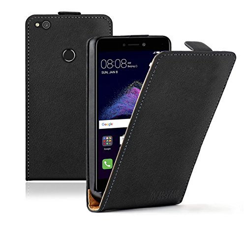 Membrane Funda Huawei P8 Lite 2017 Carcasa Negro Ultra Slim Case Flip Cover