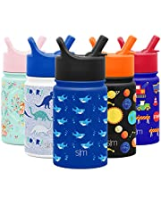 Simple Modern 10oz Summit Kids Water Bottle Thermos with Straw Lid - Dishwasher Safe Vacuum Insulated Double Wall Tumbler Travel Cup 18/8 Stainless Steel -Shark Bite