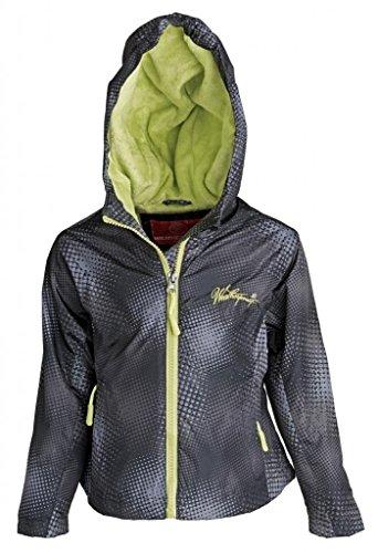 Weatherproof Girls Water Resistant Fleece Lined Light Hooded Windbreaker Jacket - Black (Size 4)