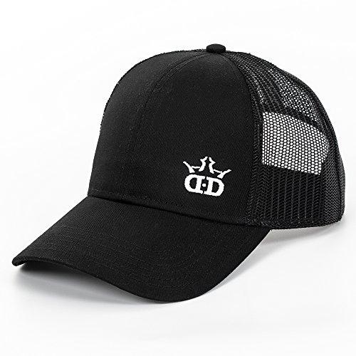 Dynamic Discs DD Logo Snapback Mesh Disc Golf Hat - Black w/Black