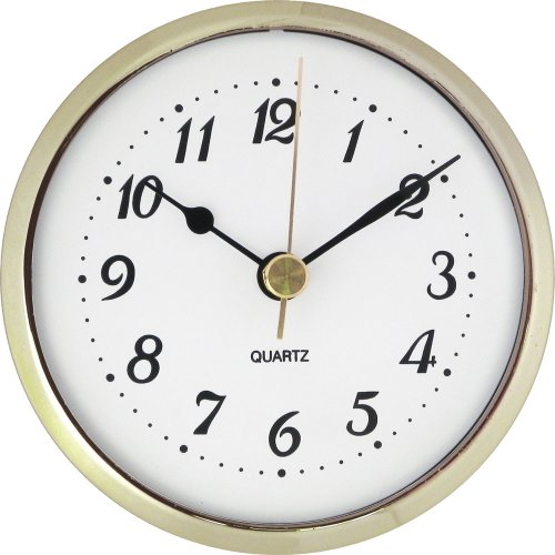 "3-1/2"" White Arabic Clock Insert"