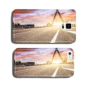 motion blur of road at sunset cell phone cover case Samsung S5